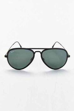 2b8353360374 Ray-Ban Light Ray Matte Black Aviator Sunglasses
