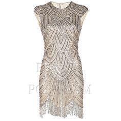 1920s Flapper Dress Great Gatsby Sequin Party Vintage Tassel Charleston FN1960 #Vikoros #BallGown #Cocktail