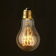 Image of 40W 2700K Vintage Edison Bulb A19 Antique Filament Style Incandescent Light Bulbs Medium(AC220-240V)