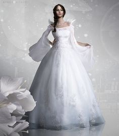 Capitol Couture - Katnissu0027 Wedding Dress- this is what it discribed in the book about what her dress looked like.  sc 1 st  Pinterest & 119 best Hollywood Brides images on Pinterest | Wedding dress ...