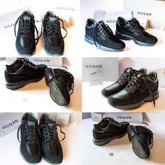Scarpe sneakers Hogan 35X camoscio nero n. 39 HXW00N0001035X9997 come nuove