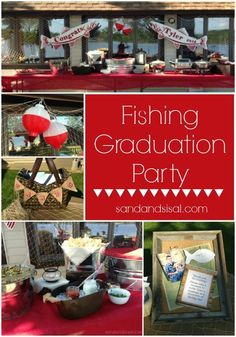 Fishing Graduation Party Ideas- great party ideas for dudes.