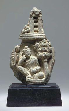 A Gray Schist Relief Fragment GANDHARA, 2ND/3RD CENTURY