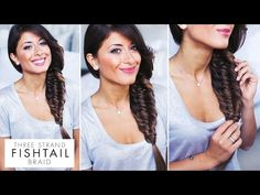 Three (3) Strand Fishtail Braid Tutorial - NO Doesn't work on my hair, which is a shame since it's beautiful. Try it if you have long, thick hair.