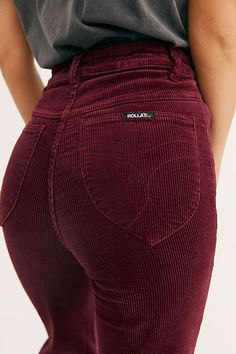 Rolla's East Coast Wide-Wale Cord Flare Jeans at Free People, Color, 31 Jean Outfits, Casual Outfits, Cute Outfits, Fashion Outfits, Girl Outfits, Beautiful Outfits, Trendy Fashion, Corduroy Pants Women, Pants For Women