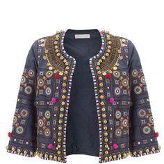 d5ab9eeb2c6 Monsoon Glasto Pom Pom Jacket (84 AUD) ❤ liked on Polyvore featuring  outerwear