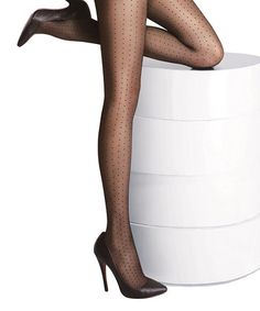 Another great find on #zulily! Black Swiss Dot Tights #zulilyfinds