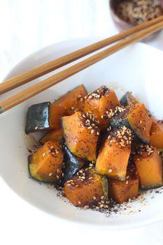 Soy Glazed Kabocha Squash with Japanese Sesame Seasoning by SeasonWithSpice.com @seasonwithspice