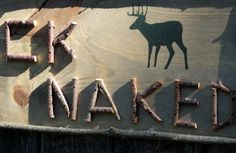 BUCK NAKED Deer Hunting Sign Rustic Decor Wooden Sign Twig
