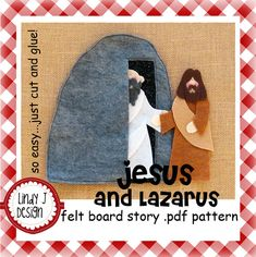 Ressurreição de Lázaro feito de feltro