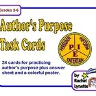 Here are 24 cards to help your students practice determining the author's purpose. This activity is meant to be supplemental and should be used aft...