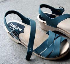 Rio Grande Sandal - Sandals - Low Heel - Nubuck Leather - Sandgrens Clogs - Women Trend - Trendy Heels - Swedish Shoes - Fashion Footwear