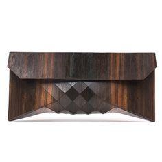 Unique ebony wood clutch from Fab