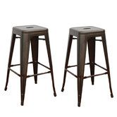 "Found it at Wayfair - 30"" Bar Stool Material: Painted iron and metal Finish: Glossy Sturdy, 4-legged design, inspired by xavier pilchard's tolix marais stool Stackable for space saving Interior and exterior style are rustic/Shabby Elegance Its polishing finish  $113 or two"