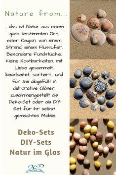 Schönes aus der Natur, mit Liebe gesammelt an ganz bestimmten Orten, sortiert, ausgewählt und zu Sets zusammengestellt. Als Deko, Erinnerung an einen besonderen Ort, Geschenk, Deko...