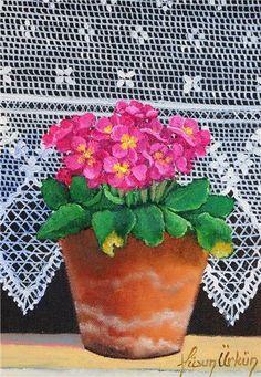 Sadece lebriz.com üyeleri resimleri daha fazla büyütebilirler. Art Floral, Floral Watercolor, Decoupage, Creation Photo, Turkish Art, Step By Step Painting, Naive Art, Paint Party, Flower Fashion