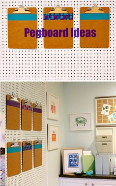 Get Organized in your Home Office | Pegboard Ideas