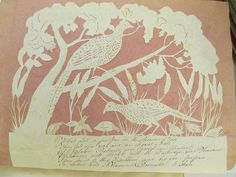 birds in trees and on ground cutting by Eliz Cobbold