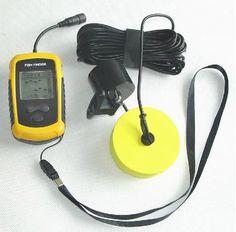 12M line Portable fishing tackle fish finder FishFinder Sound Sonar Sensor LCD display find Fish location Finder DepthAlarm 100M