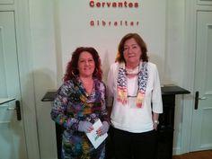 En el instituto Cervantes de Gibraltar esta tarde.