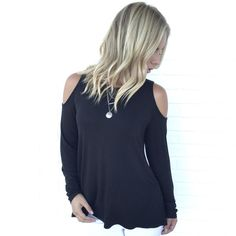 At Your Leisure Top In Black