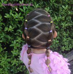 Elastics Childrens Hairstyles, Lil Girl Hairstyles, Hairstyles For School, Braided Hairstyles, Cool Hairstyles, Cool Braids, Toddler Hair, Love Hair, Hair Dos