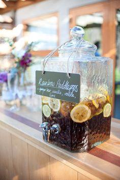 Square Glass Drinks Dispenser
