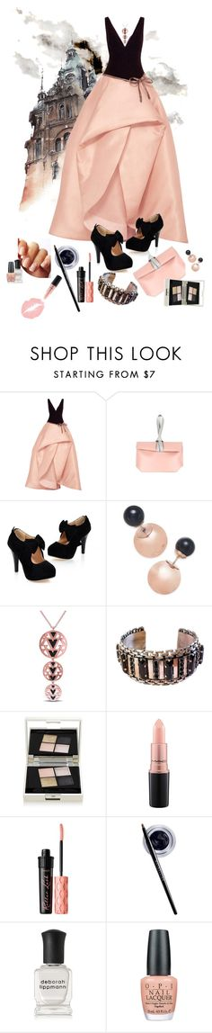 """""""From the Drafts: Fairytales"""" by duci ❤ liked on Polyvore featuring Monique Lhuillier, DaBaGirl, Versace 19•69, Sorrelli, Smith & Cult, MAC Cosmetics, Benefit, Maybelline, Deborah Lippmann and OPI"""