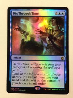 Magic the Gathering: 1x Foil Dig Through Time from the set Khans of Tarkir NM/M #WizardsoftheCoast #mtg