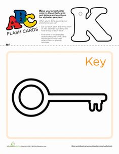 Use these flashcards to practice the ABC's, cut out and punch a hole at the top of each letter, and string them up to serve as a vibrant teaching tool. Learning The Alphabet, Kids Learning, Early Literacy, Literacy Activities, Teaching Tools, Worksheets, How To Memorize Things, Preschool, Printable