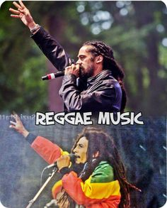 Reggae Music: Damian and his father Nesta.