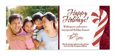 Custom Holiday Photo Cards. Fun, cute, creative holiday card with an attached seed paper shape that will grow into wildflowers!!