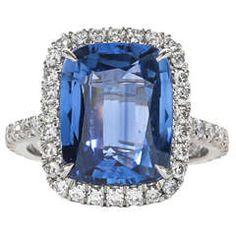 Fabulous Sapphire Diamond Platinum Ring 2
