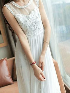Maxi Length Lace Dress