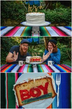Gender reveal cake |