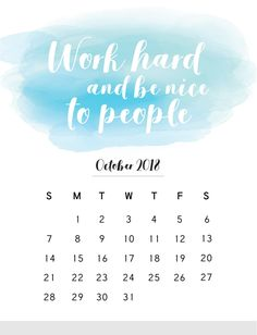 2018 Calendar With Mindful Quotes