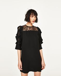 Image 6 of FRILLED LACE DRESS from Zara