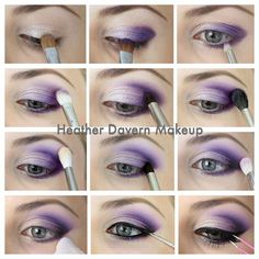Purple Eyeshadow Tutorial This is close to what I wear almost daily