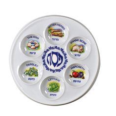 Best seller for congregational seders - $2.50 each! Disposable seder plate in stock