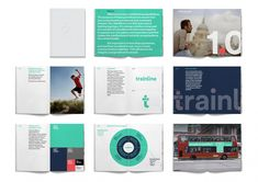 Trainline is the leading online provider of rail tickets in the UK and London based Studio Blackburn were appointed to create a new visual identity for them based around the concept of 'Smarter Journeys'. A logotype and . Book Design, Web Design, Graphic Design, Print Design, Brochure Design, Branding Design, Brand Guidlines, Transportation Logo, Logo Guidelines