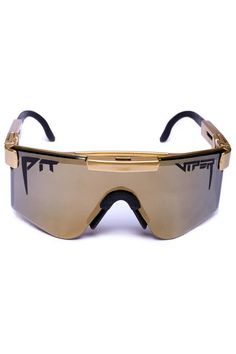 Shinesty's 24K Gold Digger Pit Vipers Sunglasses | Get your retro beach gear and all manner of outrageous threads at Shinesty.com