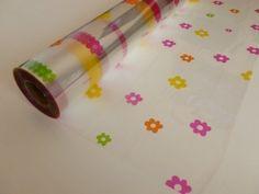 Daisy Cellophane Wrap Rouleau de film cellophane avec motif fleurs 5 m x 80 cm