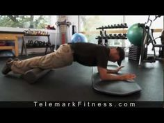 Telemark Skiing Power Training for Abs - YouTube