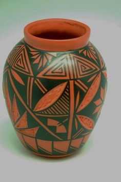 Acoma Hand Painted Pottery Vase | Acoma Pottery | Native American Pottery