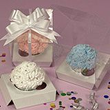 One Standard Cupcake Clear Plastic Boxes