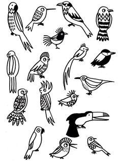 Eva Mouton - vogeltjes