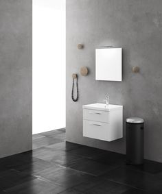 Aspen Badrum / Viskan / Vit / White / Scandinavian / Design / Bathroom Furniture