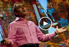 Jay Walker, curator of the Library of Human Imagination, conducts a surprising show-and-tell session highlighting a few of the intriguing artifacts that backdropped the 2008 TED stage.