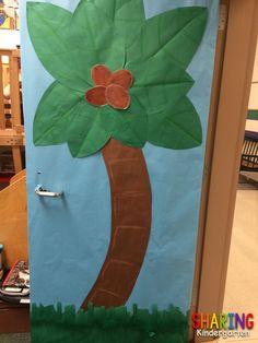Cute door Sharing Kindergarten