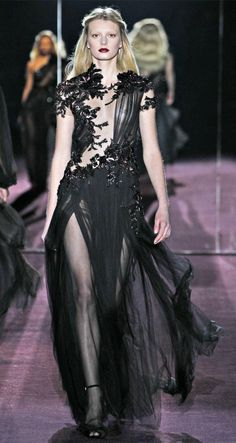 1edf303ea82 Gucci Fall 2012 Black Chiffon Embroidery Dress media gallery on Coolspotters.  See photos